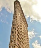 New York, USA - 19. Juni 2017 - ein New- York Citymarkstein, das flache Eisen-Gebäude Stockbilder