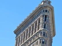 New York, USA - 19. Juni 2017 - ein New- York Citymarkstein, das flache Eisen-Gebäude Stockfoto