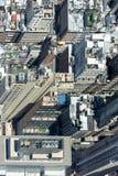 NEW YORK - USA - 13 JUNI 2015 manhattan flyg- sikt från frihetstorn Royaltyfri Bild