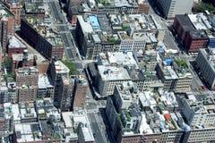 NEW YORK - USA - 13 JUNI 2015 manhattan flyg- sikt från frihetstorn Royaltyfria Bilder