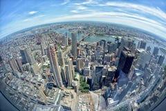 NEW YORK - USA - 13 JUNI 2015 manhattan flyg- sikt från frihetstorn Fotografering för Bildbyråer