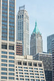 NEW YORK - USA - 11 JUNI 2015 - moderna byggnader från heliport Royaltyfria Bilder