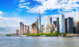 New York, USA. Lower Manhattan skyline view with urban architect Royalty Free Stock Photos