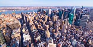 New York, USA: Manhattan aerial panorama stock photography