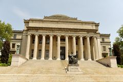 New York, USA - May 25, 2018: Alma Mater statue near the Columbia University library. stock photos