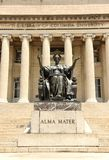 New York, USA - May 25, 2018: Alma Mater statue near the Columbia University library. New York, USA - May 25, 2018: Alma Mater statue near the Columbia stock photography