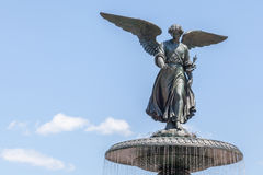 New York, USA- May 20, 2014. Bethesda Fountain Angel of water f Royalty Free Stock Photo