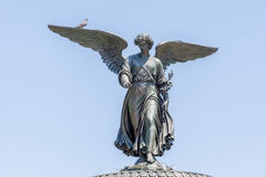 New York, USA- May 20, 2014. Bethesda Fountain Angel of water f Stock Images