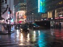 Rainy New York evening royalty free stock photography