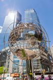 New York, USA- May 20, 2014. The globe sculpture near the 59th S Royalty Free Stock Images