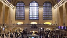 NEW YORK, USA - MAY 5, 2019: Grand Central railway station. Indoors stock video