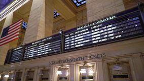NEW YORK, USA - MAY 5, 2019: Grand Central railway station. Indoors display in New York stock footage