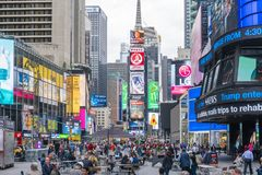 People at Times Square in New York City Royalty Free Stock Photos
