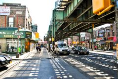 New York, USA, May 3rd 2013. Lifestyle in New York Neighborhoods stock photos