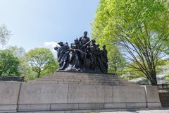 Scenery of Central Park at spring in NYC Royalty Free Stock Photo