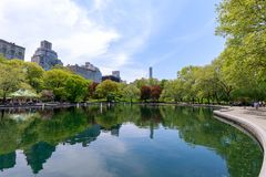 Scenery of Central Park at spring in NYC Royalty Free Stock Image