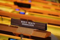 NEW YORK, USA - MAY 25 2018 United Nations general assembly hall royalty free stock photography