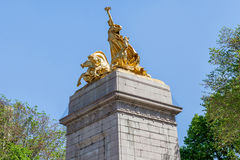 New York, USA- May 20, 2014. The USS Maine National Monument On Stock Photography