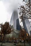 The World Trade Center Memorial. New York/USA - 1/10/19 - the 9/11 memorial at the site of the world trade centers stock photography