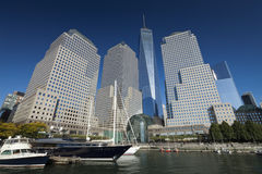 New York, USA - North Cove Marina at Battery Park Stock Photo