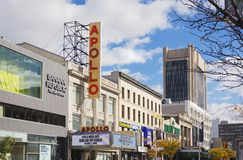 The famous Apollo Theater in Harlem, New York. New York, USA, november 2016: the famous Apollo Theater in Harlem, New York Stock Photo