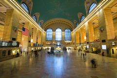 NEW YORK USA - NOVEMBER 27, 2017: Grand Central terminal GCT, royaltyfria bilder