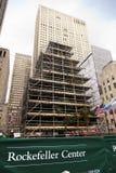 Rockefeller centrerar den Christmans treen Manhattan New York NY Arkivfoto
