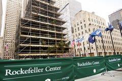 Rockefeller centrerar den Christmans treen Manhattan New York NY Arkivbilder