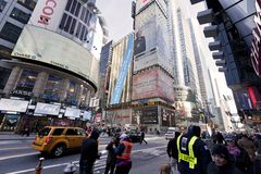Times Square Pedestrians Royalty Free Stock Photo