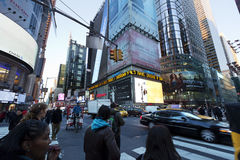 Times Square Afternoon Rush Hour Royalty Free Stock Photography