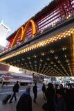 McDonald's på den 42nd gatan New York Fotografering för Bildbyråer