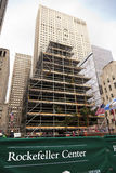 Rockefeller Center Christmans Tree Manhattan New-York NY Stock Photo
