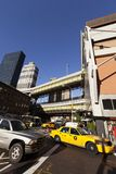 NYC Taxi Traffic by Port Authority Bus Terminal royalty free stock image