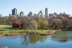 NEW YORK, USA - 23 NOVEMBRE : Horizon de Manhattan avec le Central Park Photo libre de droits