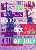 New York Usa NYC Poster 4TH July Edition. New York Usa NYC Poster 4 July Independance Day Edition For Print T-shirt Poster vector illustration