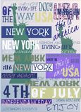 New York Usa NYC Poster 4TH July Independance Day Edition. New York Usa NYC Poster 4 July Independance Day Edition For Print T-shirt Poster royalty free illustration