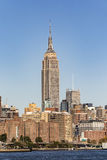 NEW YORK, USA - OCT 23, 2015: The Empire State Building shines Stock Image
