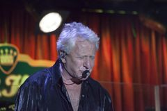 Graham Russell of Air Supply performs at B.B. King blues club an. NEW YORK, NEW YORK, USA - OCTOBER 13: Graham Russell of Air Supply performs at B.B. Kings blues Stock Photography