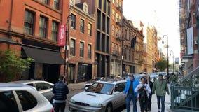 NEW YORK, USA - OCTOBER 1, 2019: Midtown city streets at Manhattan.