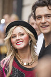 NEW-YORK, USA - OCTOBER 9: Orlando Bloom accompanied young blond Stock Images