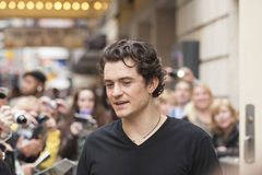 NEW-YORK, USA - OCTOBER 9: Orlando Bloom gives autographs prior Stock Image