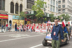 New York- USA, October, 6: Procession of  Polish People on the S Royalty Free Stock Photography