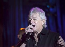 Lead singer Russell Hitchcock of Air Supply performs at B.B. Kin. NEW YORK, NEW YORK, USA - OCTOBER 13: Russell Hitchcock of Air Supply performs at B.B. Kings Royalty Free Stock Photo