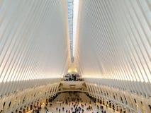 New York USA - Oktober 2017: Oculusen i World Trade Center T Arkivbild