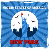 New York USA retro poster Stock Images