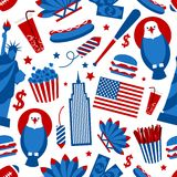 New York USA seamless pattern Stock Image
