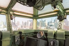 Intrepid Sea, Air and Space Museum, New York. NEW YORK, USA - SEP 25, 2015: Cabin of the USS Intrepid (The Fighting I), one of 24 Essex-class aircraft carriers Stock Images