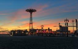 Coney Island Beach in New York City Stock Images