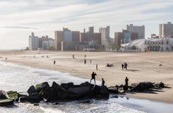 Coney Island Beach in New York City Stock Photo