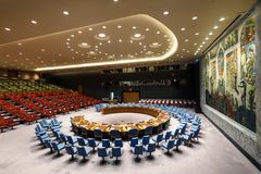 72th session of the UN General Assembly in New York Stock Photos